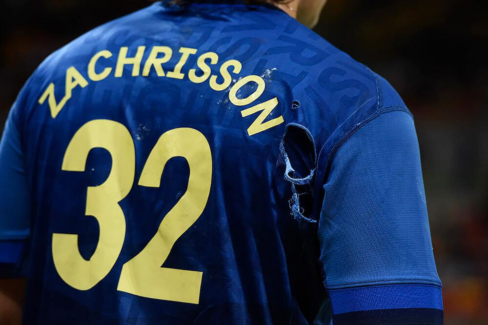 Utilisation de la typographie Sweden Sans sur les maillot de l'équipe nationale de football