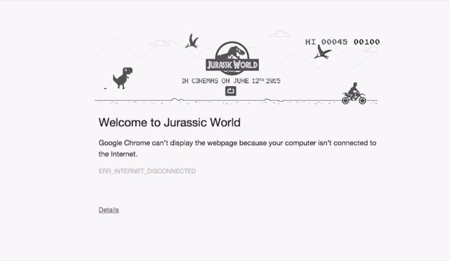 jurassic world google chrome miami ad school mumbai Sonica Baptist Himanish Ashar-1