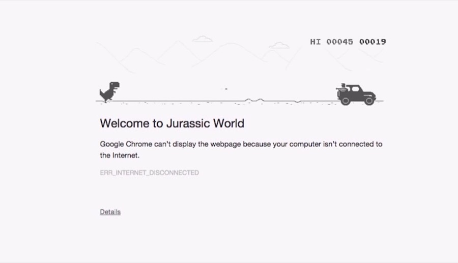 jurassic world google chrome miami ad school mumbai Sonica Baptist Himanish Ashar-3
