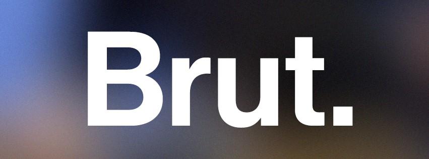 Le logotype du media social Brut sur Facebook