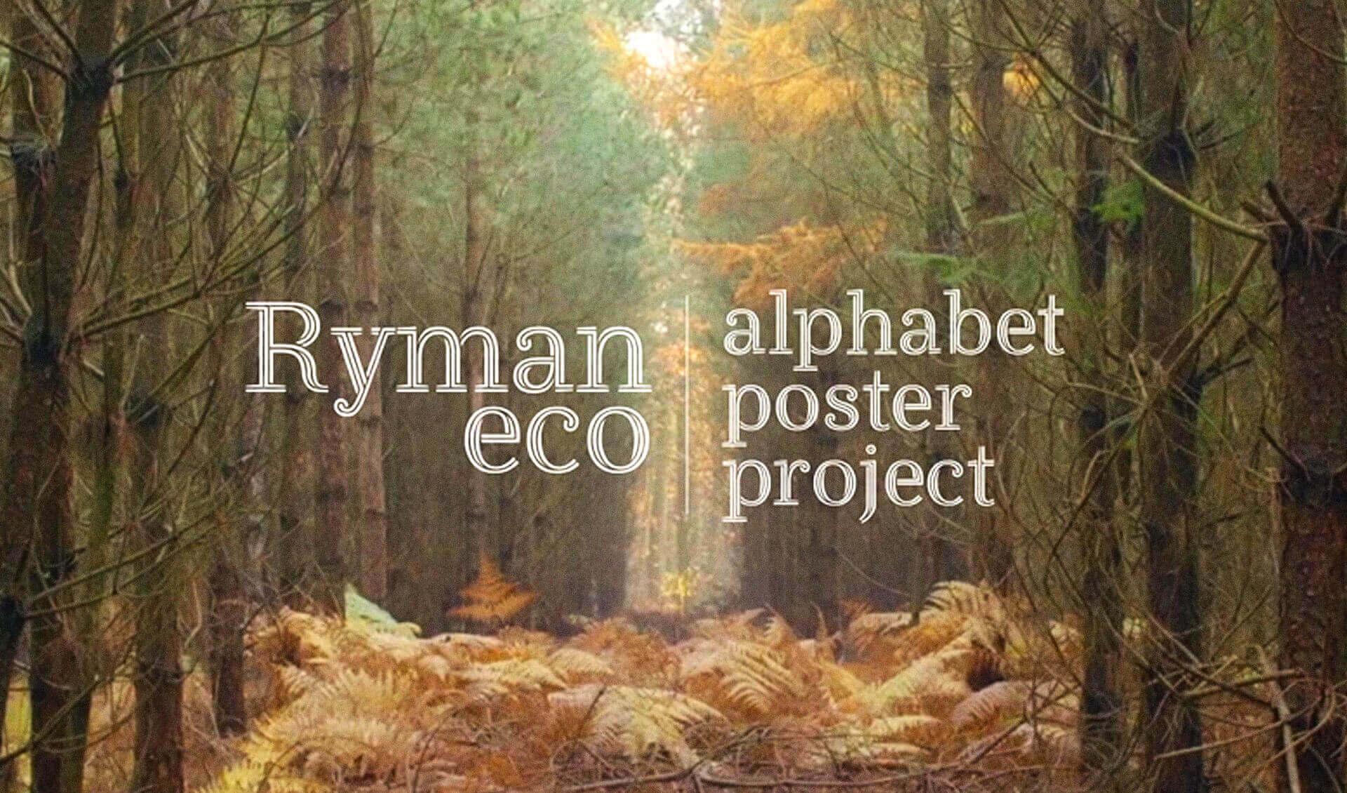 Presentation de la typographie ecologique Ryman Eco