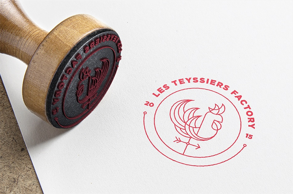 Logotype Les Teyssiers Factory - Antoine Peltier - Designer graphique independant - 2