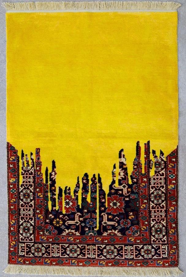 Peinture numérique sur un tapis de Faig Ahmed