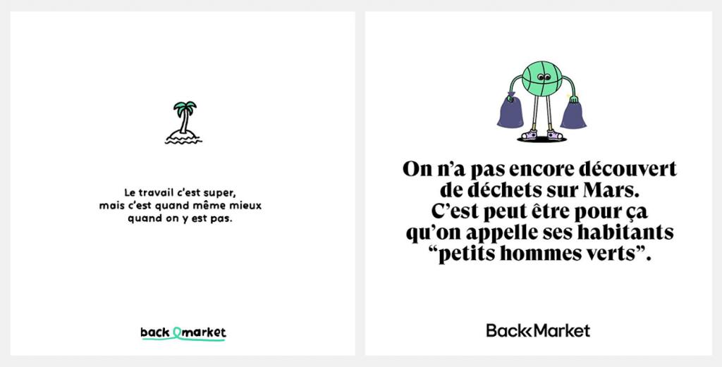 Communication de Back Market sur les reseaux sociaux