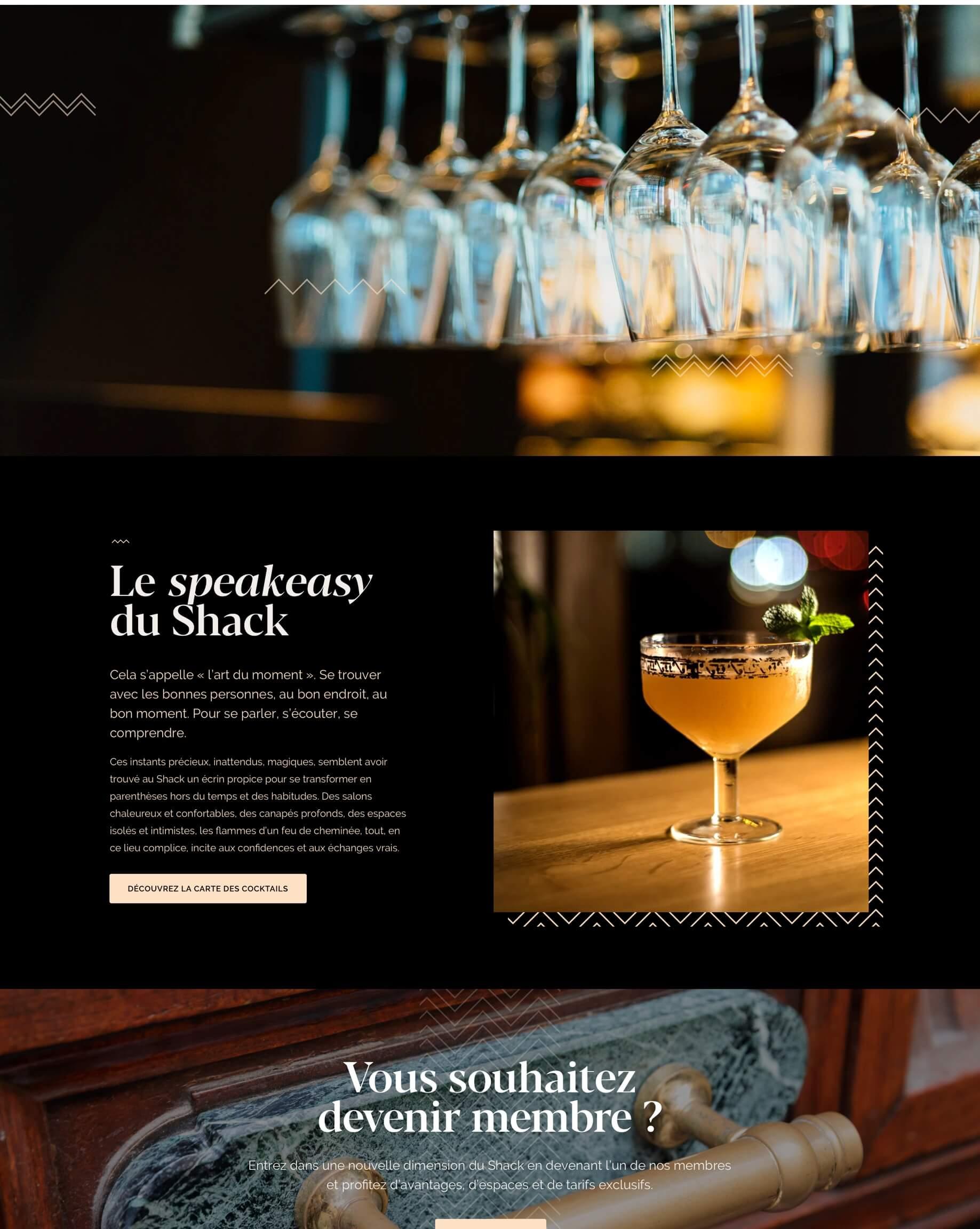 Page web du restaurant Le Shack Paris par Antoine Peltier - 2 sur 2