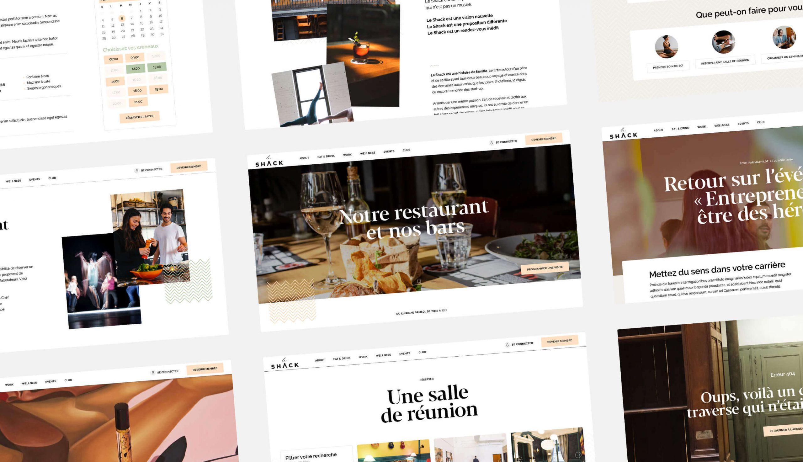 Site Web du lieu Le Shack Paris - Antoine Peltier