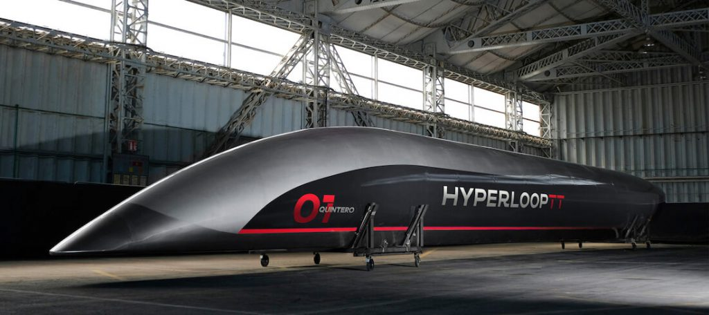 Photo de la capsule Hyperloop d'Elon Musk