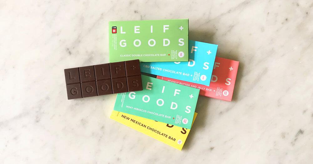 Chocolat naturel au cannabis - Leif Goods