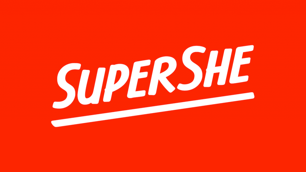 Le logotype SuperShe par &Walsh