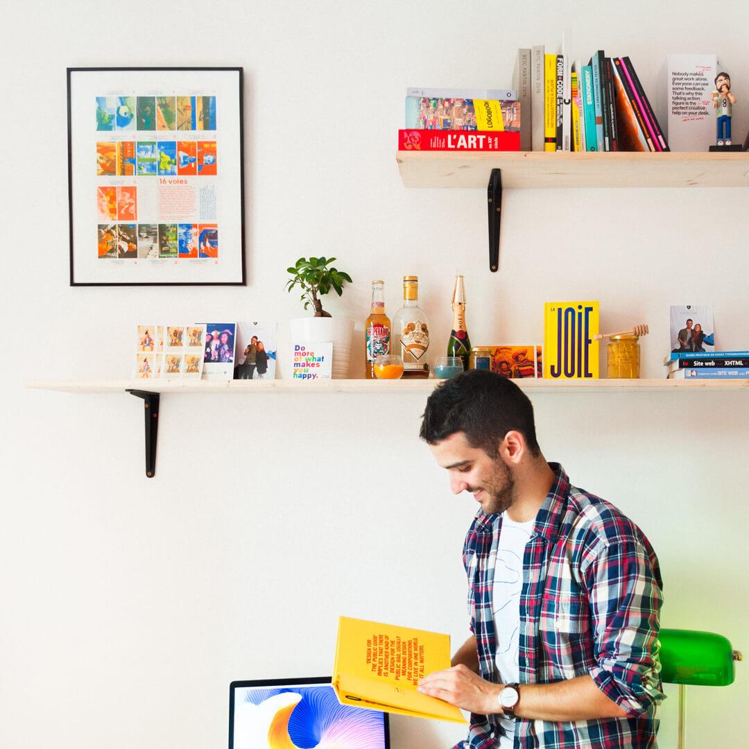 Portrait de Antoine Peltier, designer graphique et directeur artistique