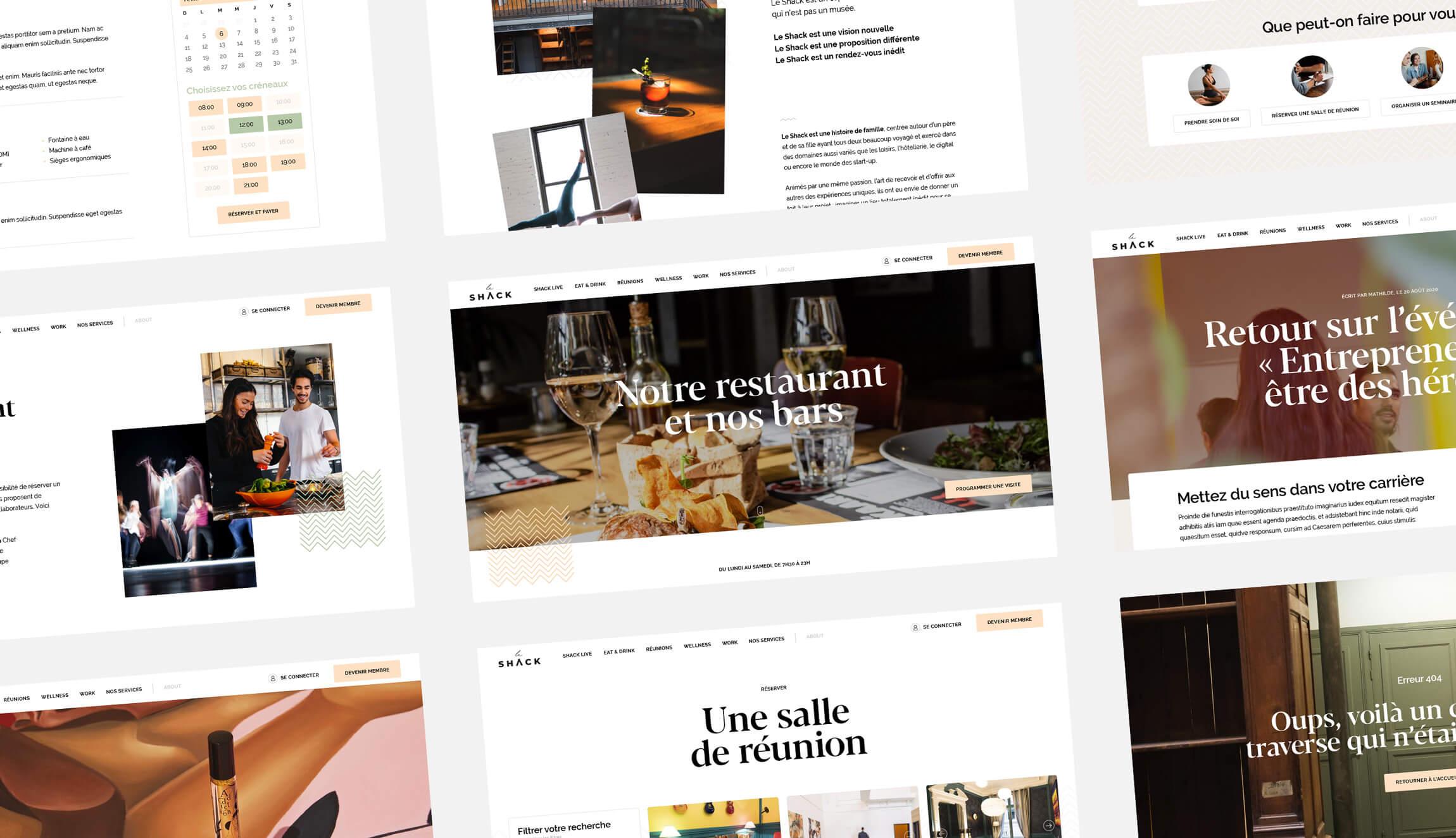 Site Web de Le Shack Paris - Antoine Peltier