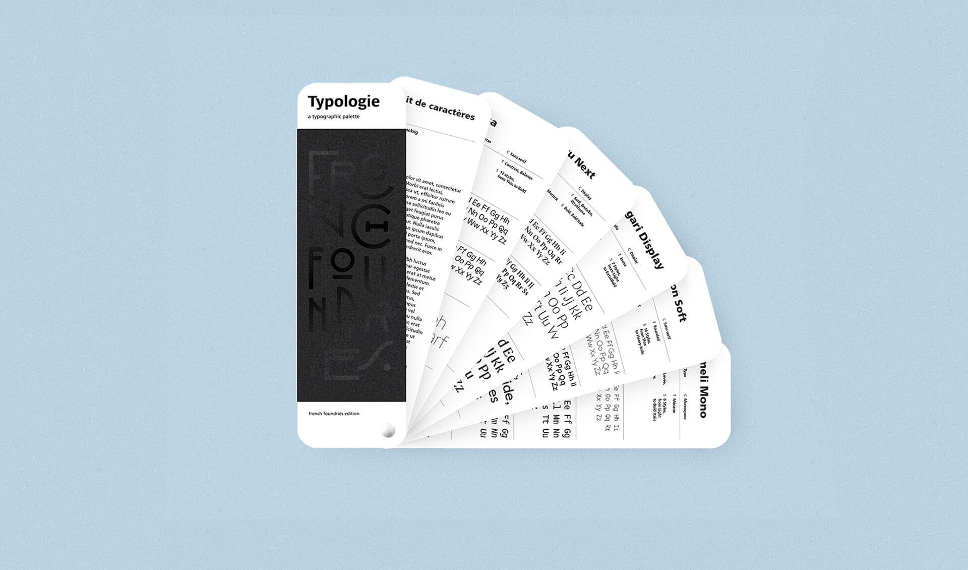 Découvrez Typologie le nuancier typographique de Recto Verso
