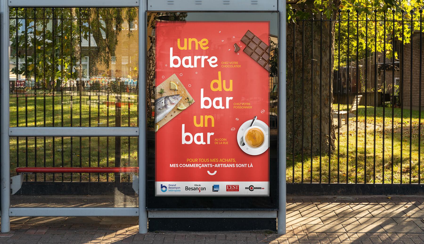 Campagne de communication pour sauver les commerces du Grand Besancon Metropole