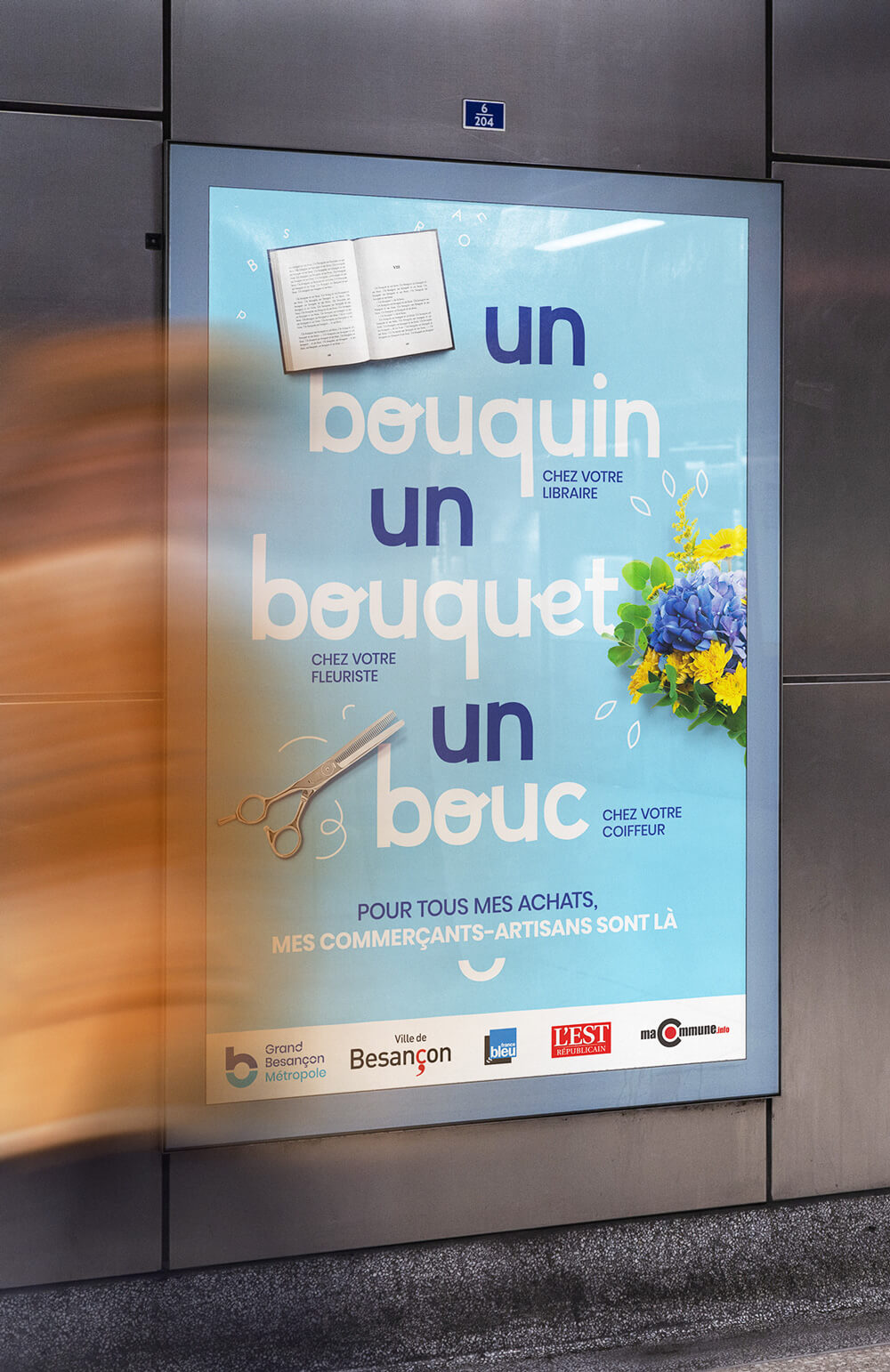 Affiche pour sauver les commerces du Grand Besancon Metropole - 2