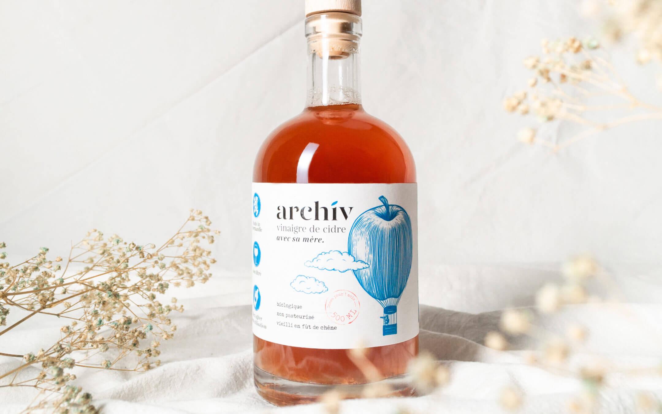 Bouteille de vinaigre de cidre ArchiV