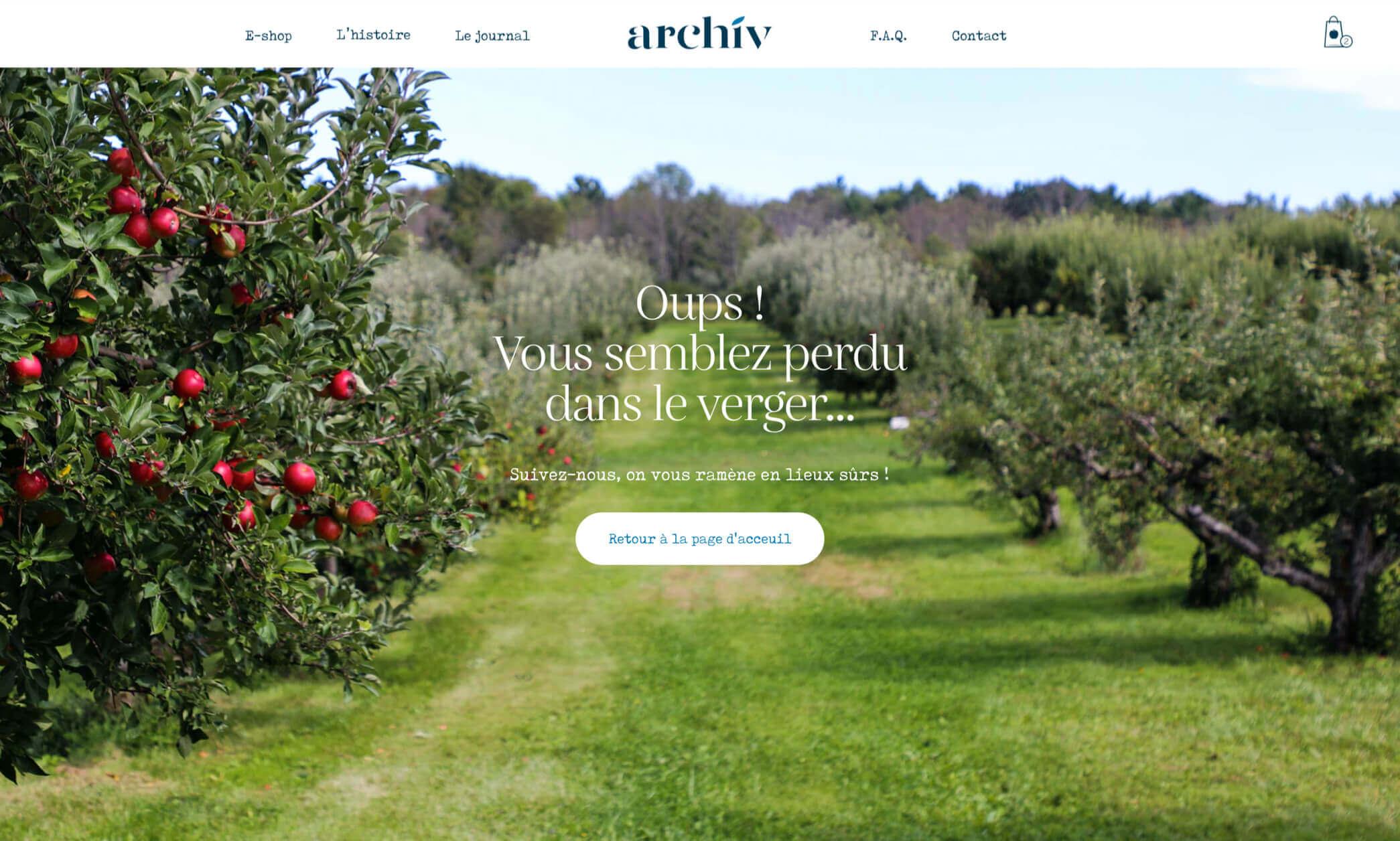 Page 404 du ecommerce de ArchiV