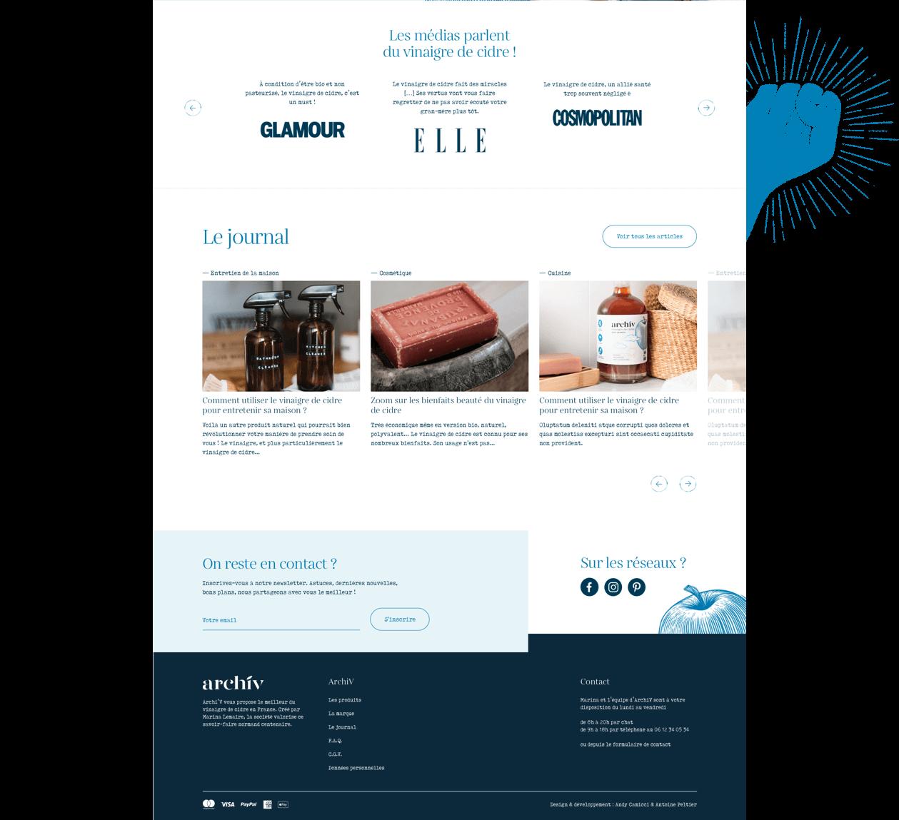 Site Web de la marque Archiv - 1