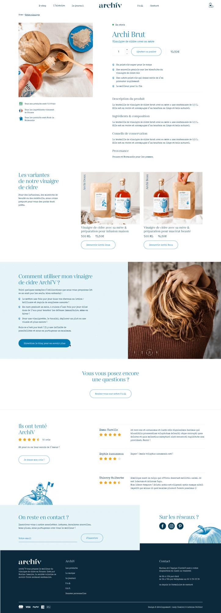 Site Web de la marque Archiv - 3