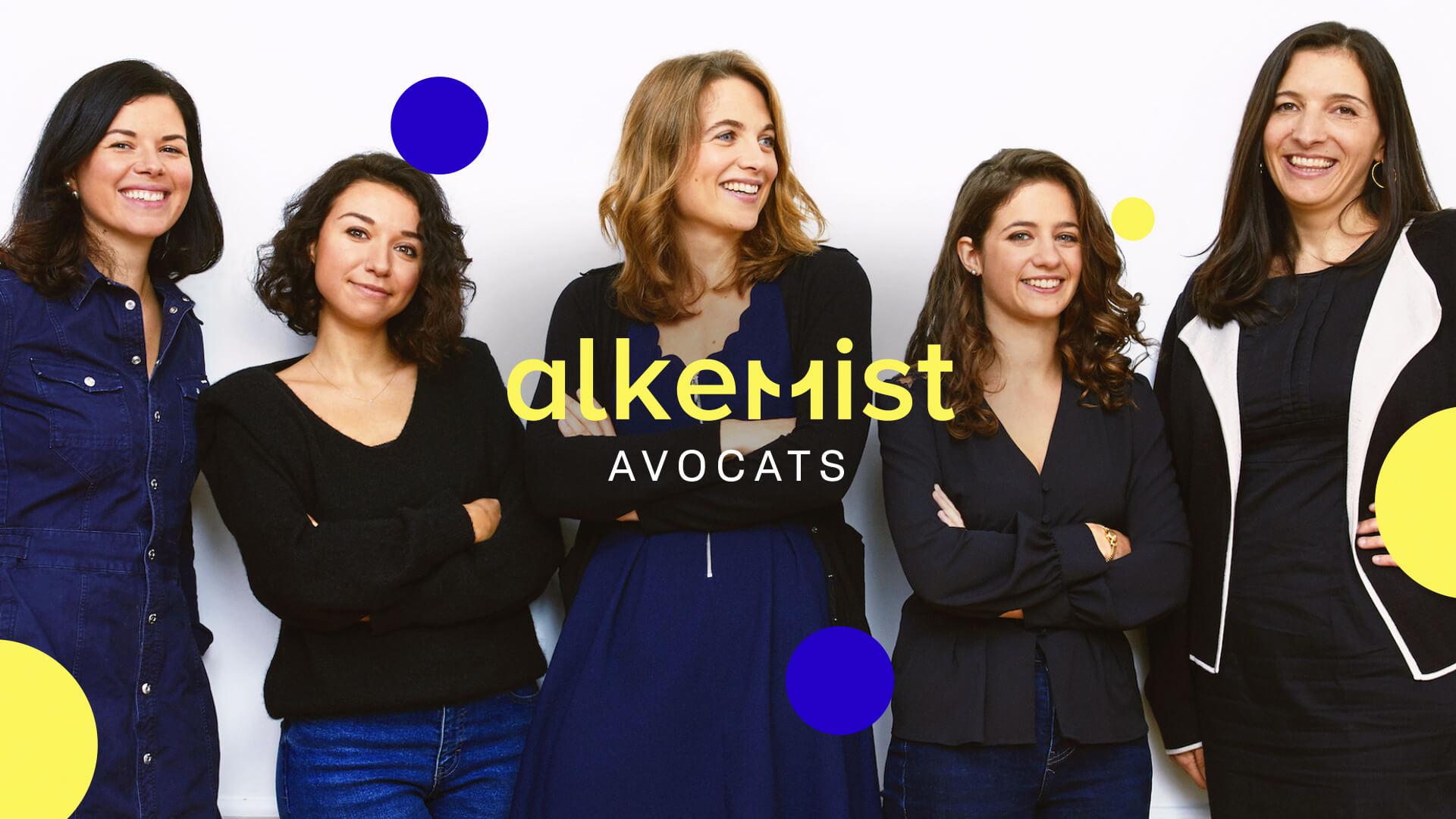 Equipe du cabinet Alkemist Avocats avec Elise Fabing