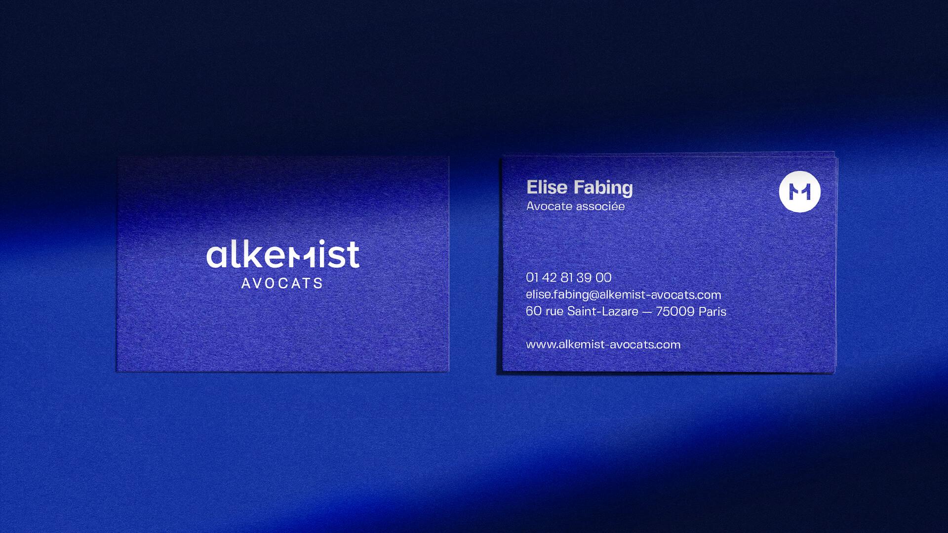Carte de visite de Elise Fabing