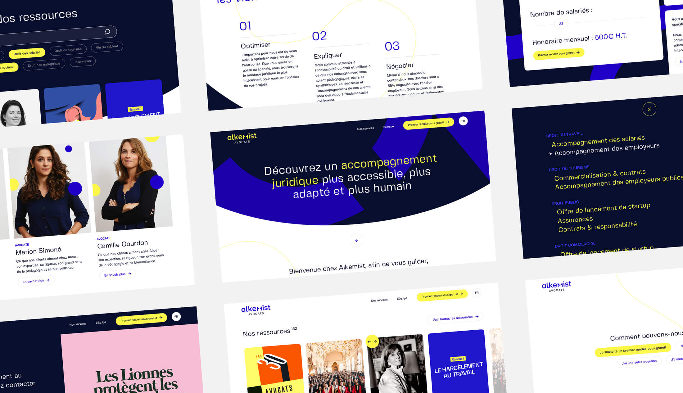 Design du site internet de Alkemist Avocats