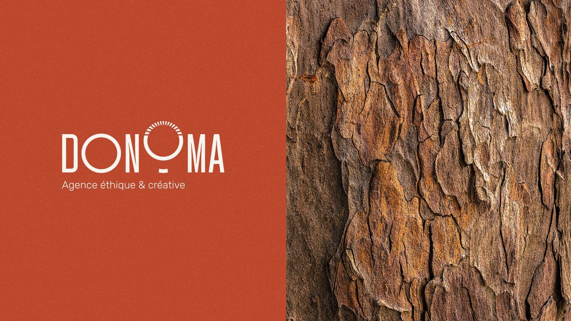 Logotype de l'agence Donoma créée par Audrey Boulouis