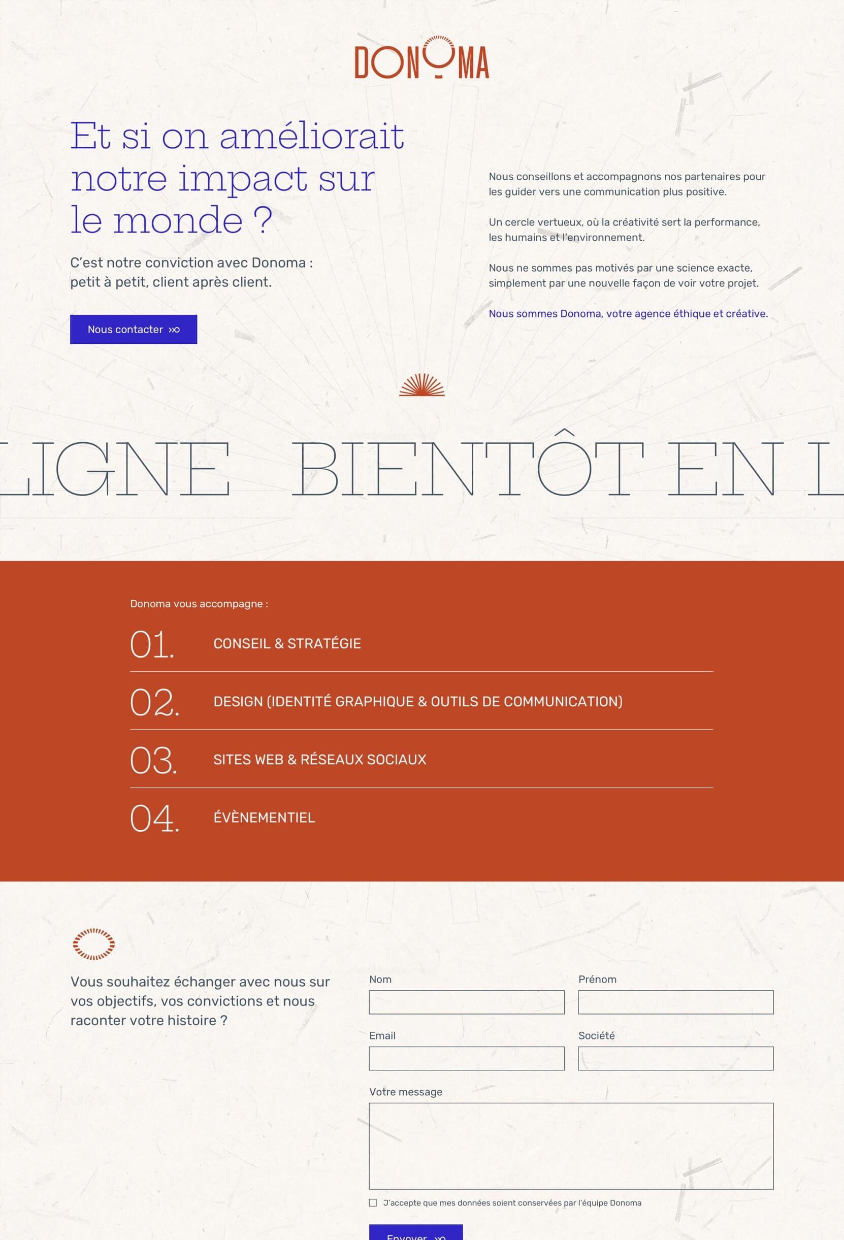 Site web de l'agence Donoma à Bordeaux