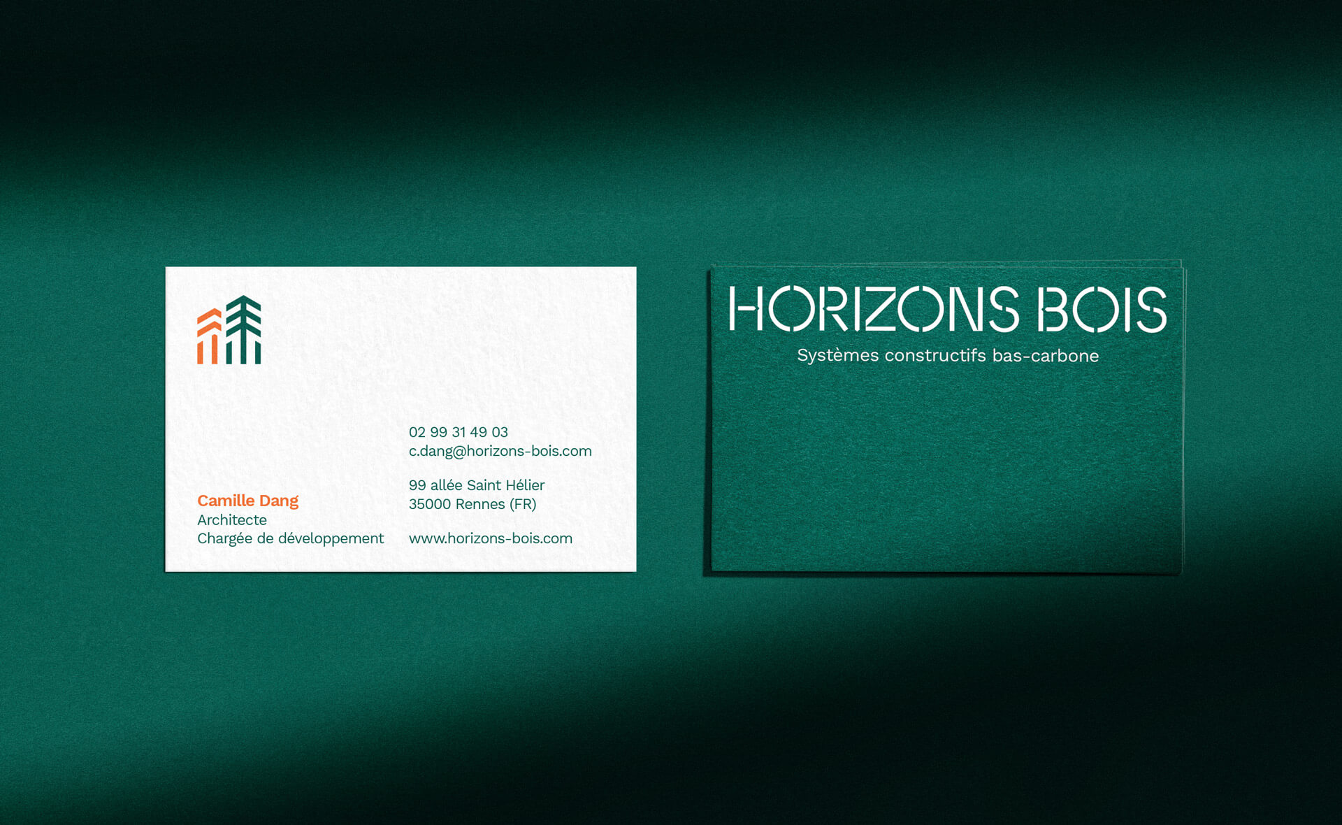 Carte de visite de Horizons Bois par Architecture Plurielle