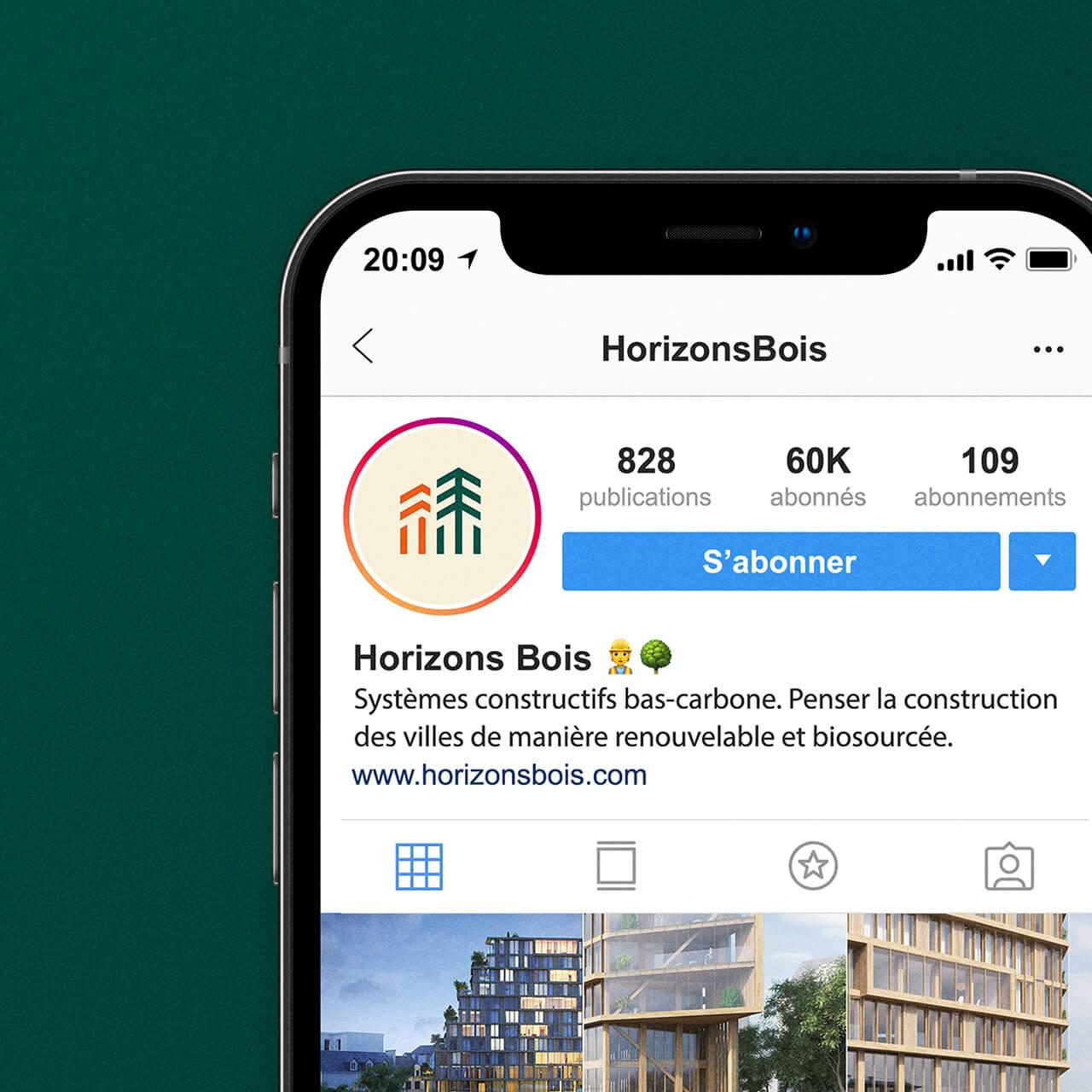 Compte Instagram de Horizons Bois