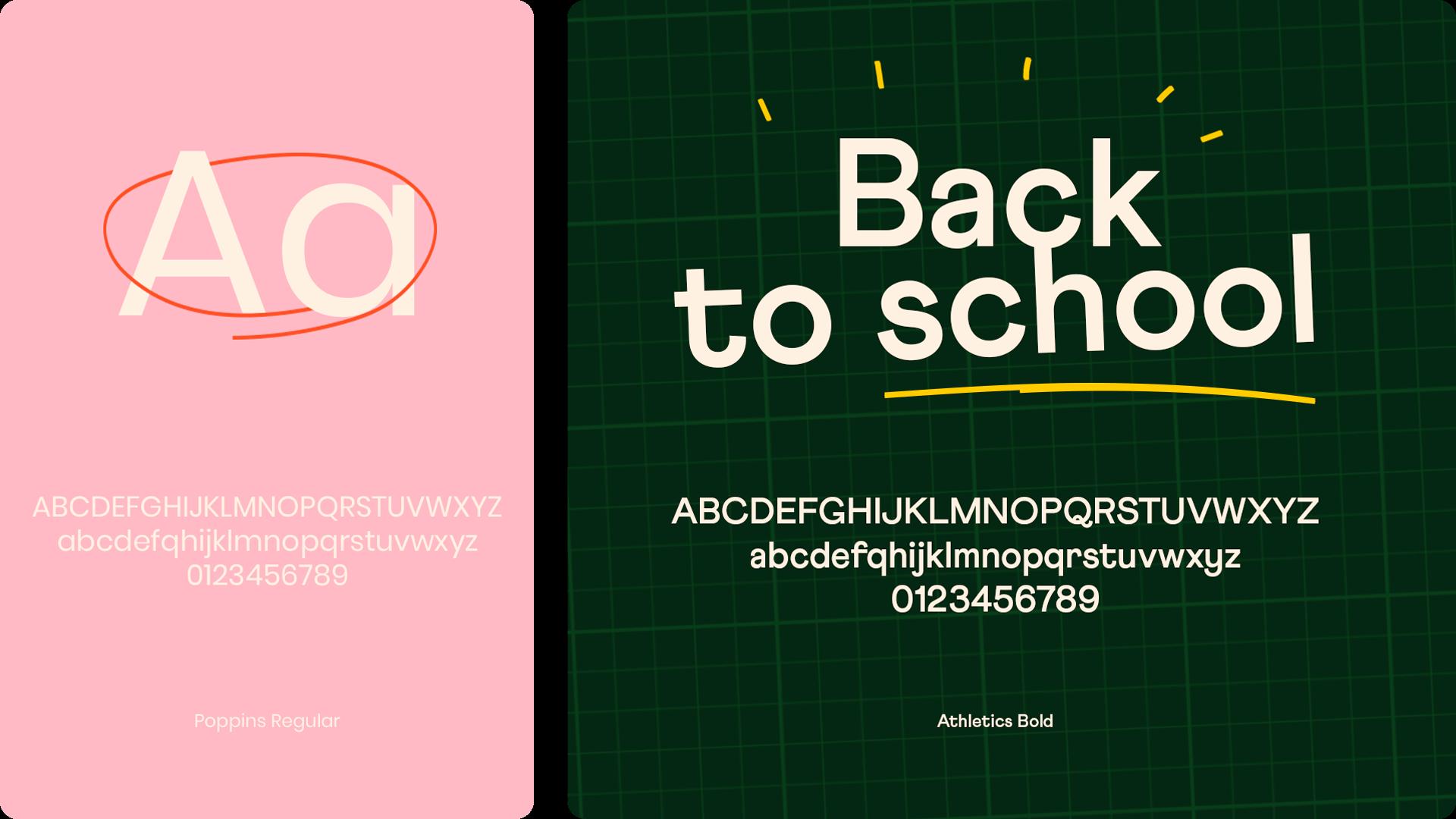 Direction artistique et typographie de Educawa