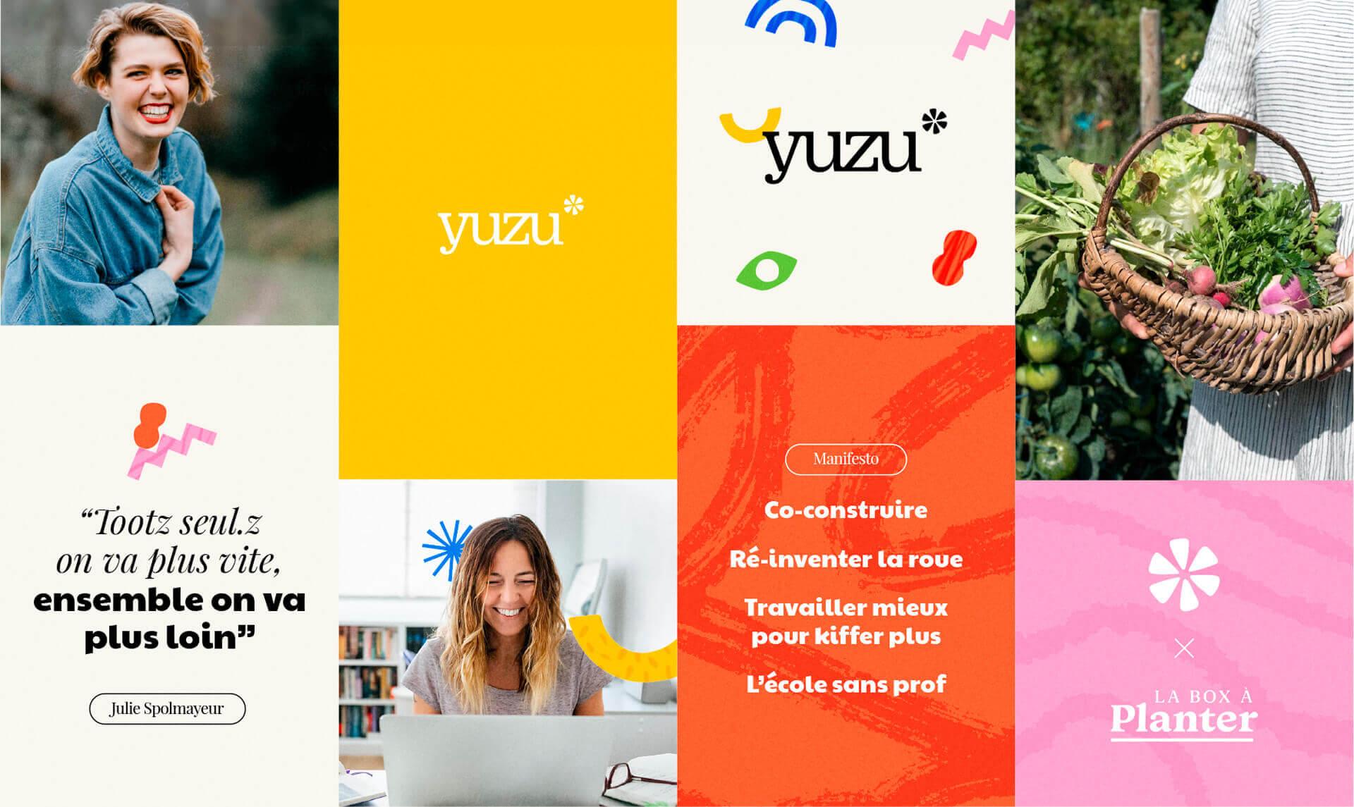 Brand board du logotype du Collectif Yuzu