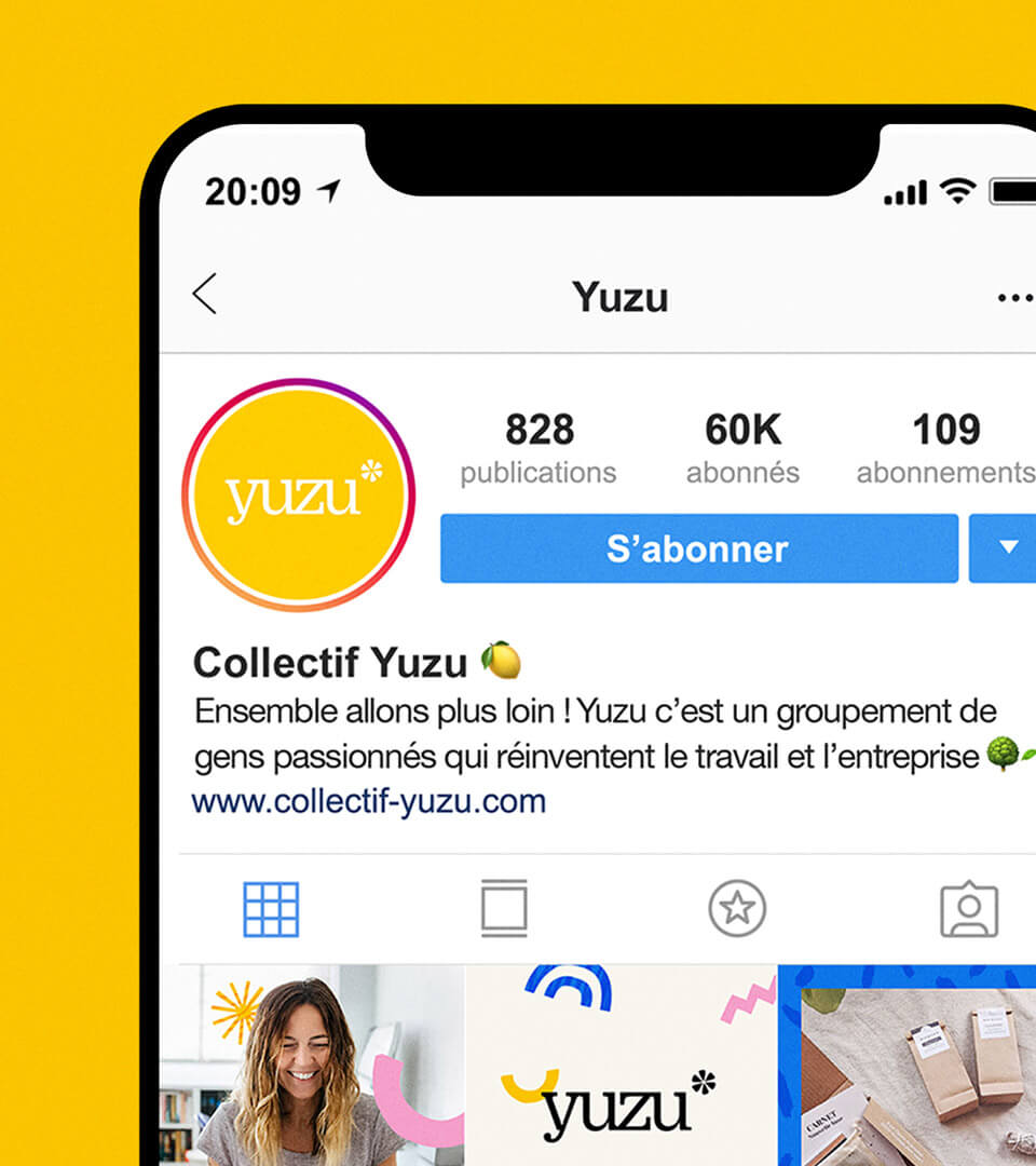 Social Media de Yuzu par Julie Spolmayeur