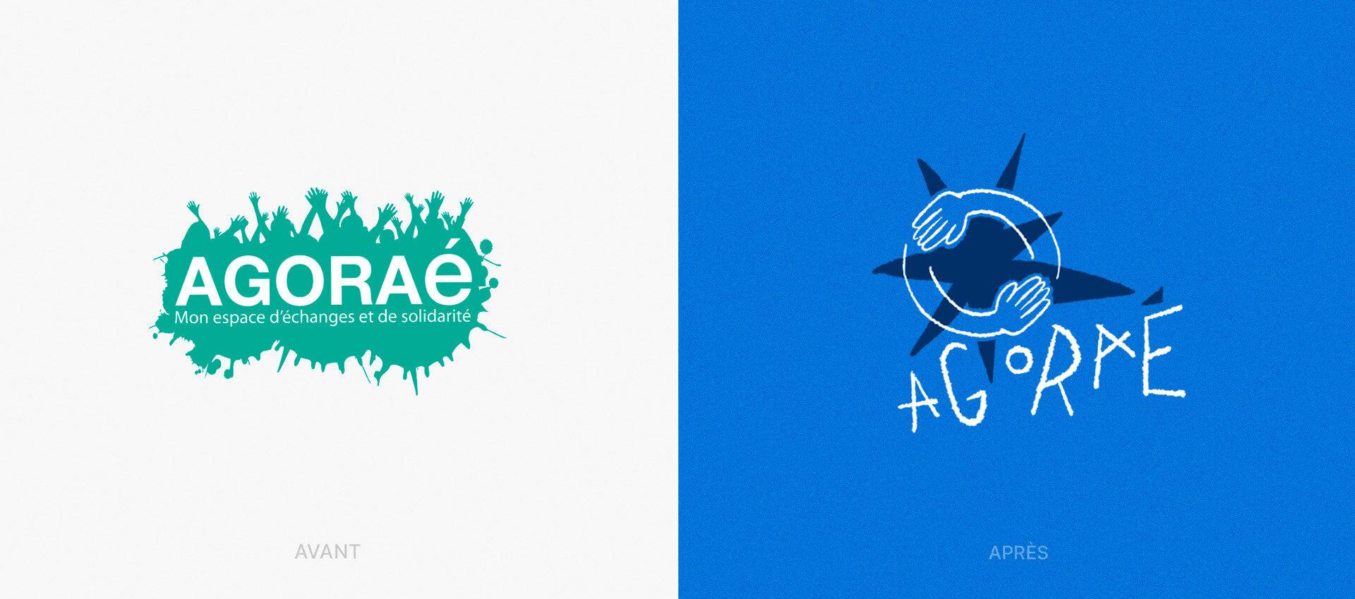 Nouveau logo Agoraé versus l'ancien